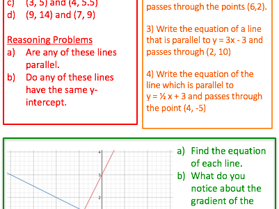 RAG - Finding the Equation of a Line