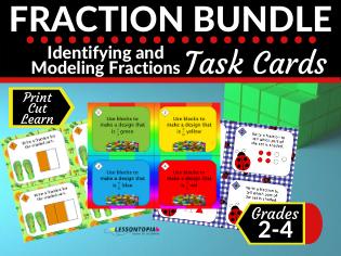 Fractions Task Card Bundle