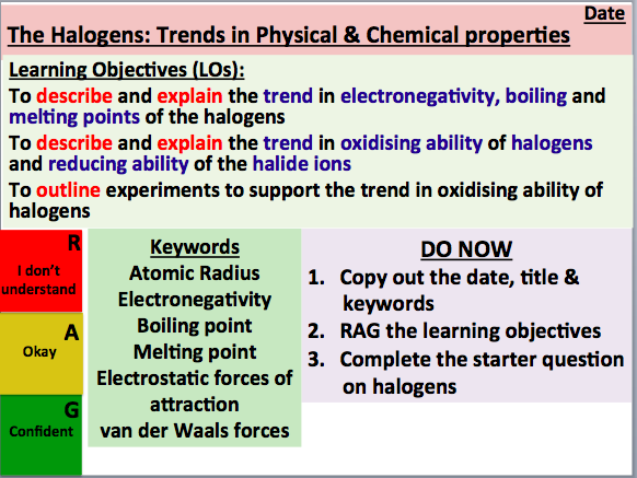 KS5 Chemistry: The Halogens (Trends in Physical & Chemical Properties) (AS Level)