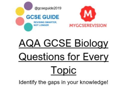 AQA GCSE Biology 9-1 all topic questions