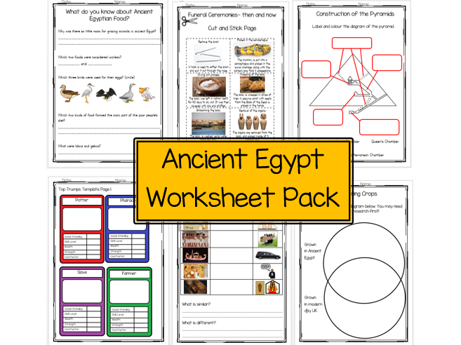 Ancient Egypt Worksheet Pack