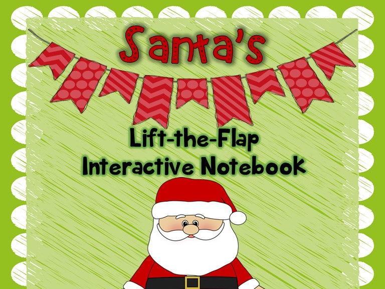Santa's Lift-the-Flap Interactive Christmas Notebook