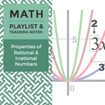 Properties of Rational and Irrational Numbers - Playlist and Teaching Notes