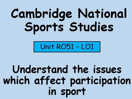 OCR-Sport Studies (R051) Contemporary Issues in Sport