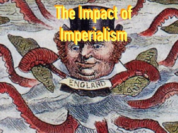 How did imperialism lead to suffering in India?