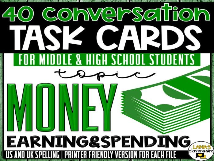 Conversation Starter Cards | Money | Social Skills for Middle&High