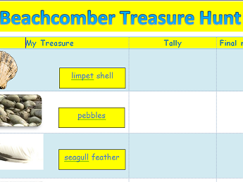 YR/ KS1 beachcomber  treasure hunt.