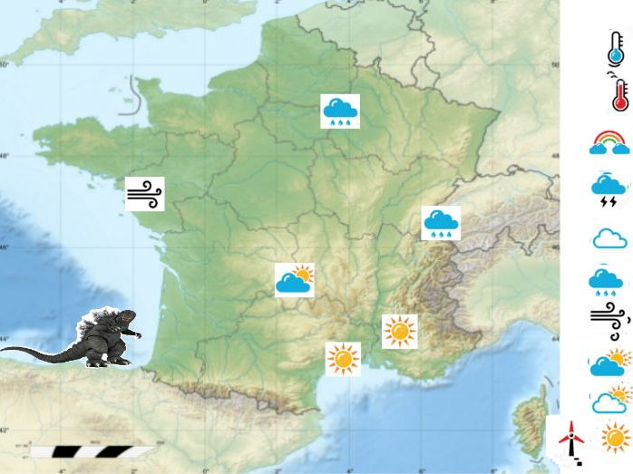 interactive Weather map of France