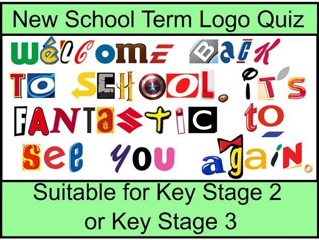 New term / New class activity - Logo quiz KS2 and KS3 Back to school