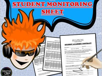 Academic Student Contract and Weekly Monitoring Sheet