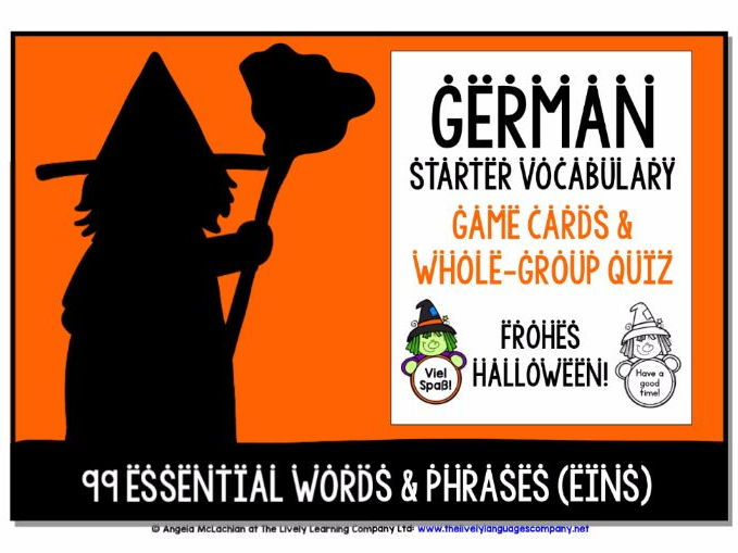 GERMAN VOCABULARY HALLOWEEN GAMES & QUIZZES 99 WORDS & PHRASES (1)