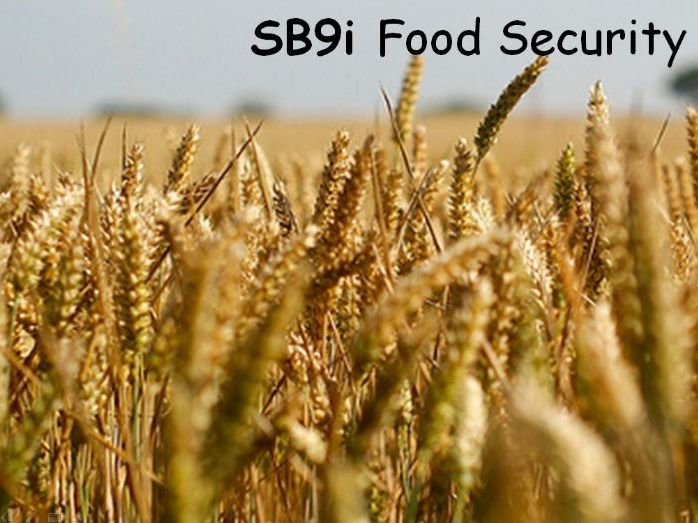 SB9i Food Security