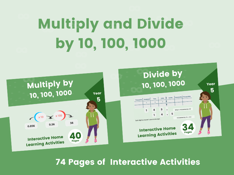 Multiply and Divide by 10, 100 and 1000 - Year 5