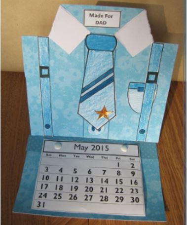Father's Day Craft - Shirt Desktop Calendar