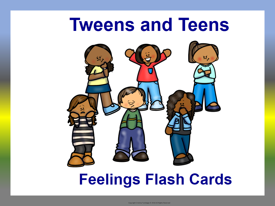 Tweens and Teens Feelings Flash Cards
