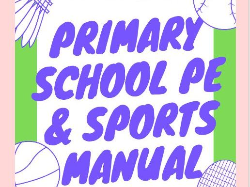 Primary School PE Sports manual with fun multi-sport games and lesson plans