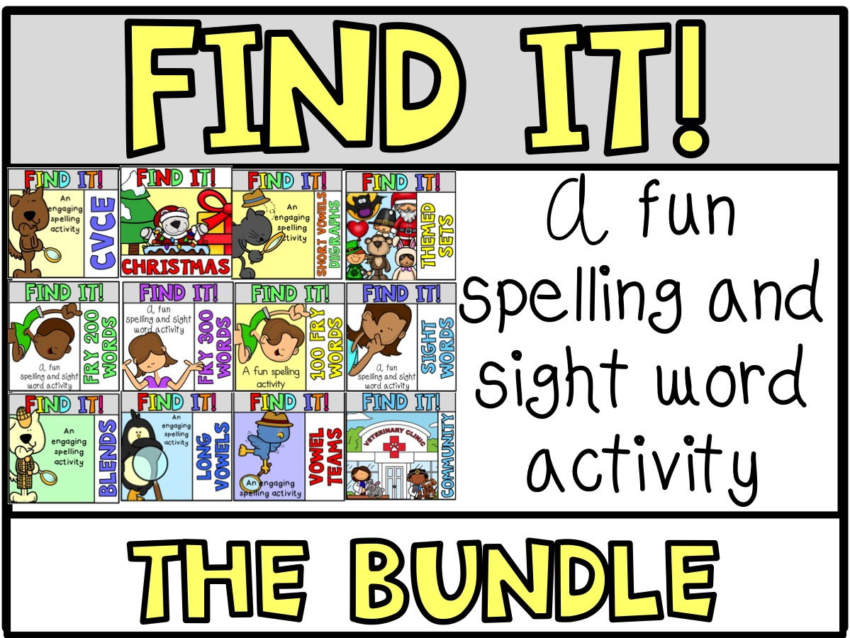 Tiny Word Hunt I SPY Bundle