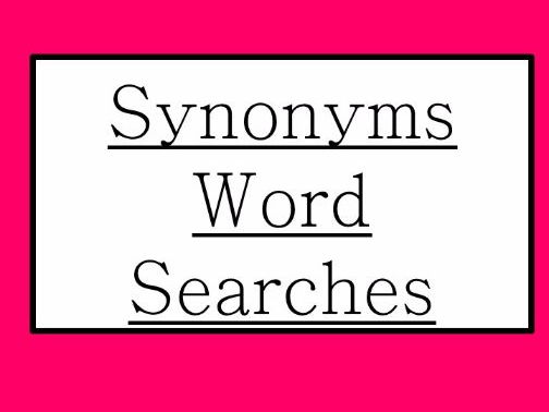 Synonyms Word Searches