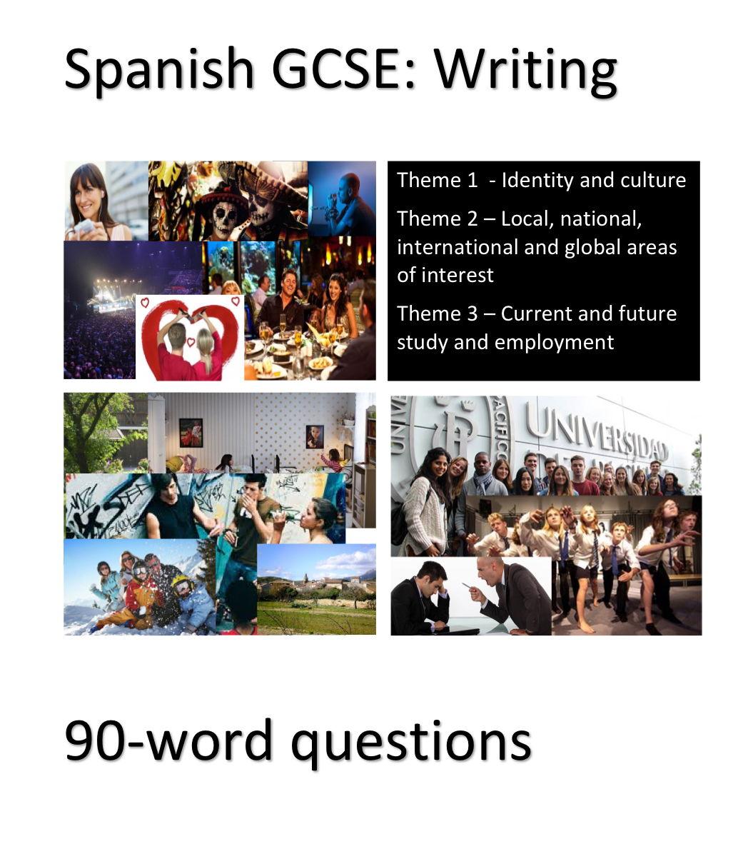 New Spanish GCSE - Writing exam practice: 90-word questions
