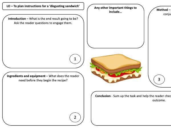 Instructions planning sheet