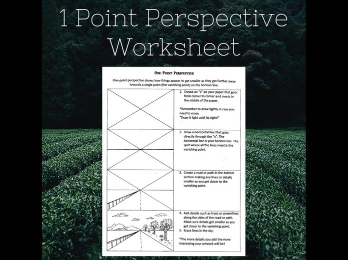 1 point perspective art worksheet