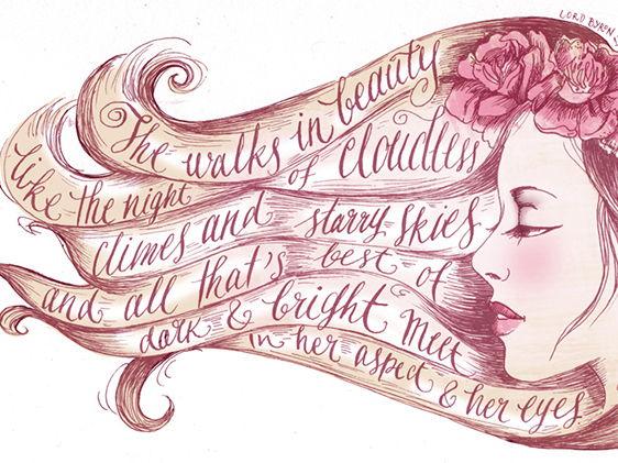 'She Walks in Beauty'- Byron
