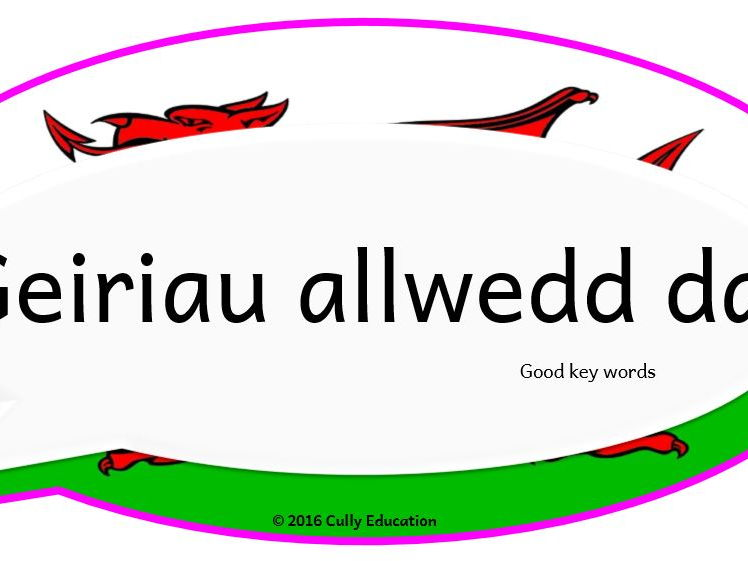 Incidental Welsh Posters for the Y2 Classroom