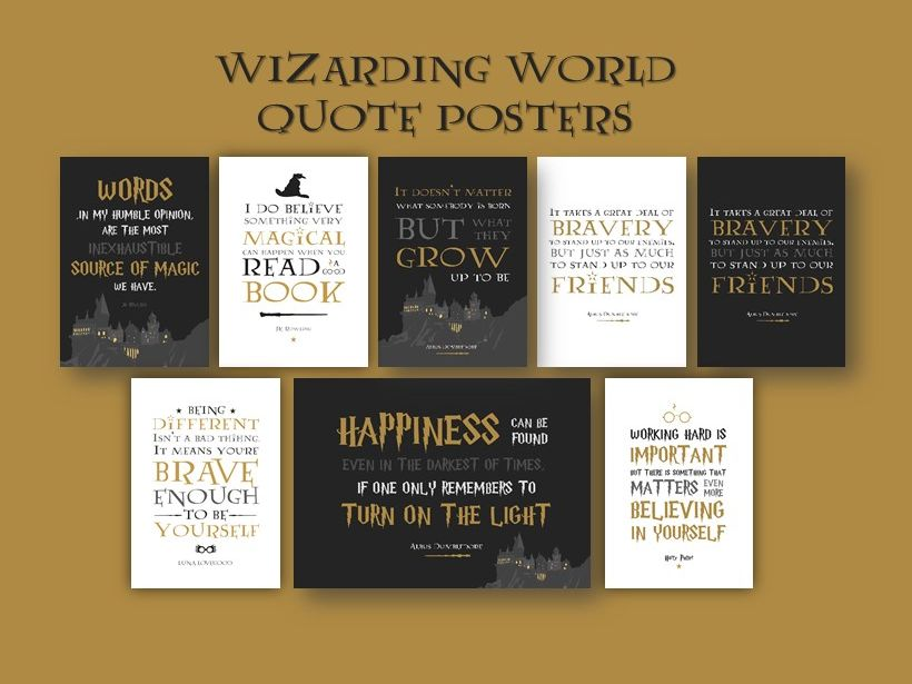Harry Potter Wizarding World Inspired Classroom Quote Poster Set
