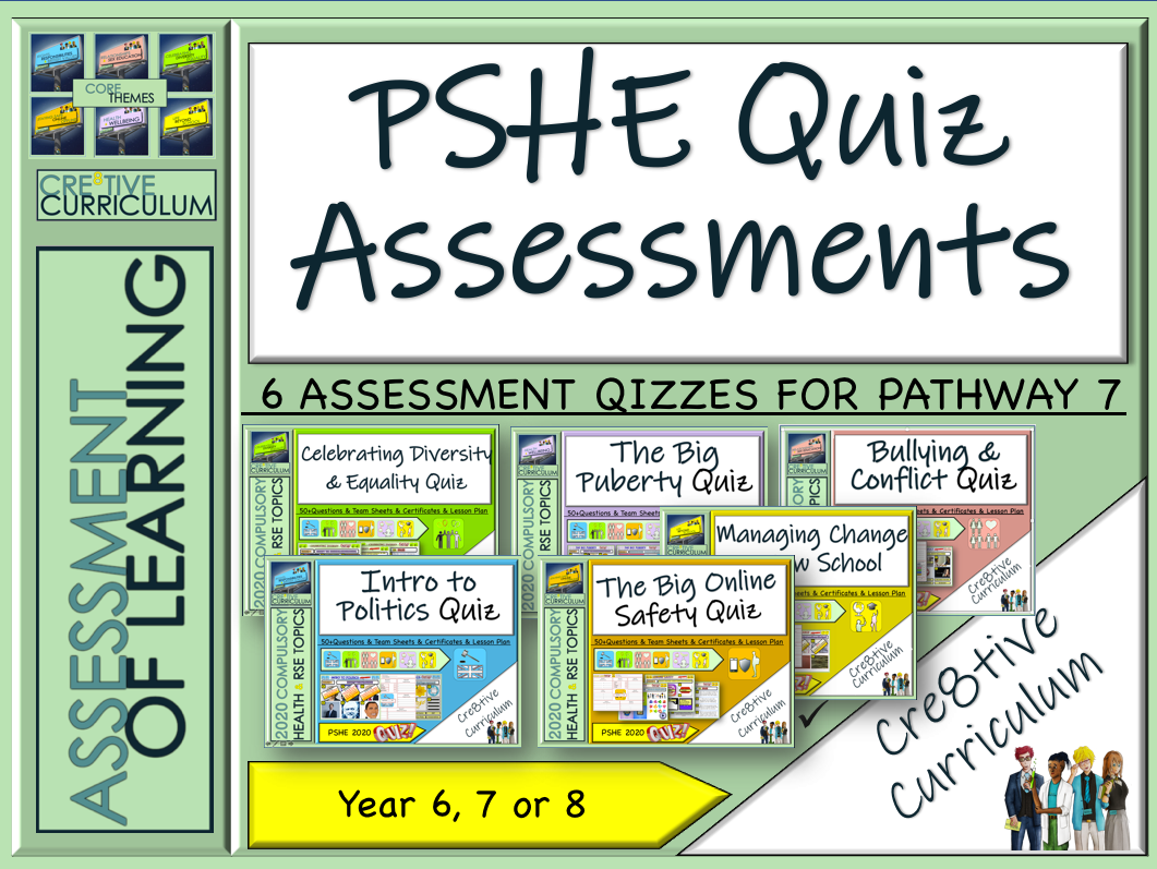 PSHE RSE Assessment Quizzes 2019