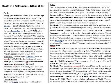 AQA - English Lit - Tragedy - Death of  A Salesman - Cram quotes on one whole page