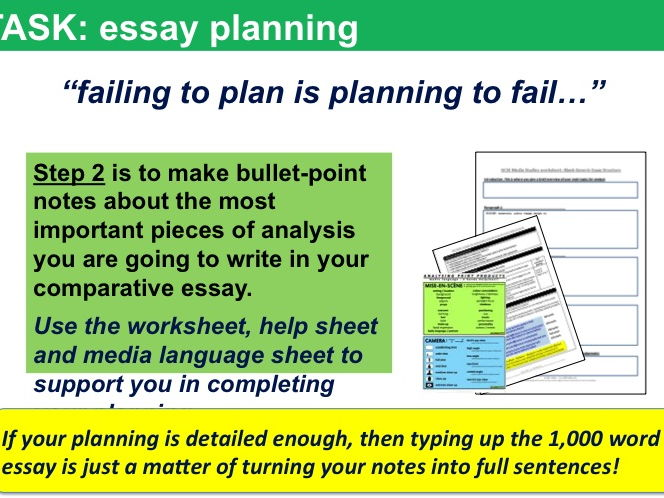 9-1 GCSE Media Studies Key Concepts lessons 13, 14 & 15: Comparative Essay Structuring and Writing