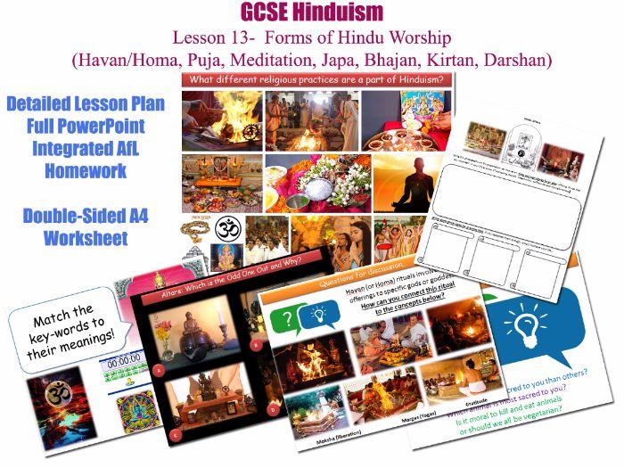 GCSE Hinduism - L13/20 [Forms of Hindu Worship (Havan, homa, Puja, Meditation, Japa, Bhajan, Sadhus]