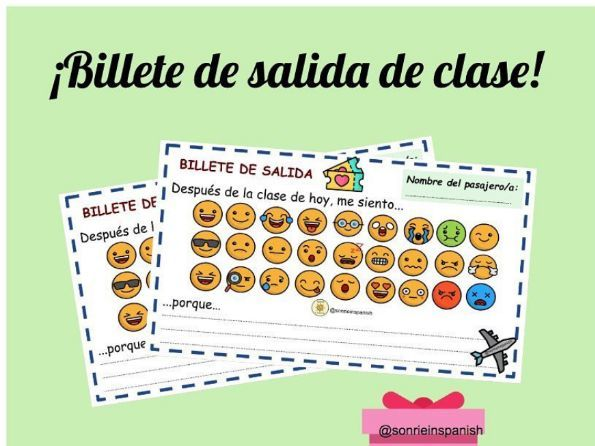 Billete de salida - Exit ticket EMOJI - Plenary - Emoji plenary