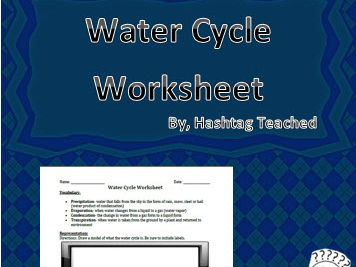 Water Cycle Worksheet Activity