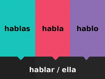 AR Verbs Matamoscas Flyswatter Spanish verb game