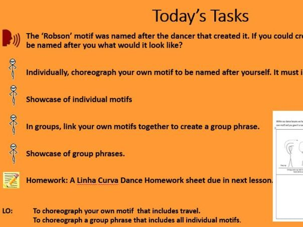 KS3 Dance 'A Linha Curva' 6 week (6 lesson) SOW and 6 week (6 lesson) delivery PowerPoint