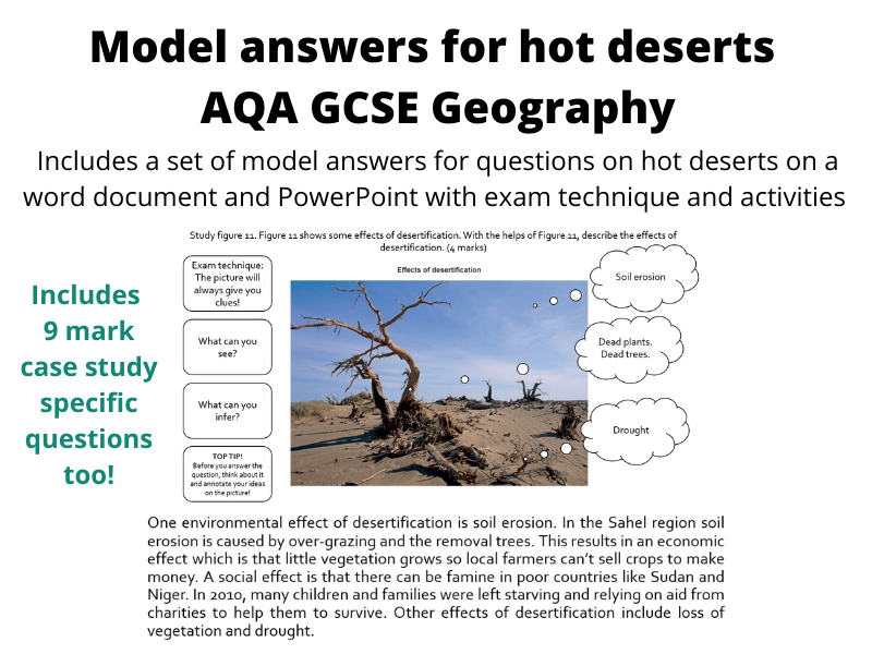 AQA Geography Model Answers Hot Deserts