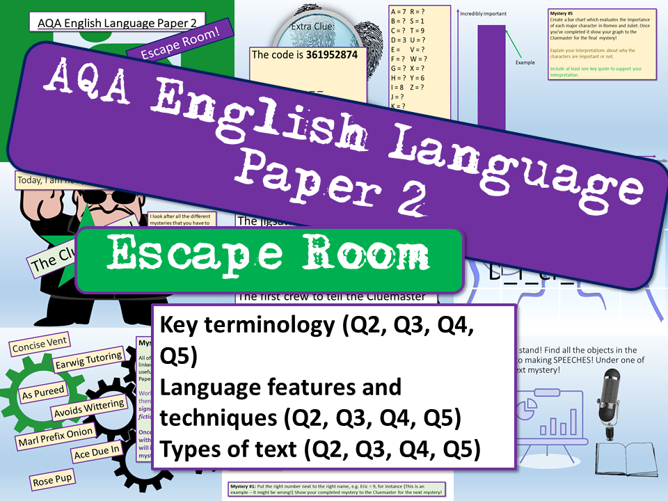 AQA English Language Paper 2 Escape Room