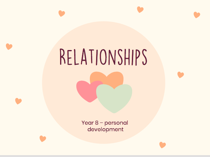 Relationships -Personal development KS3