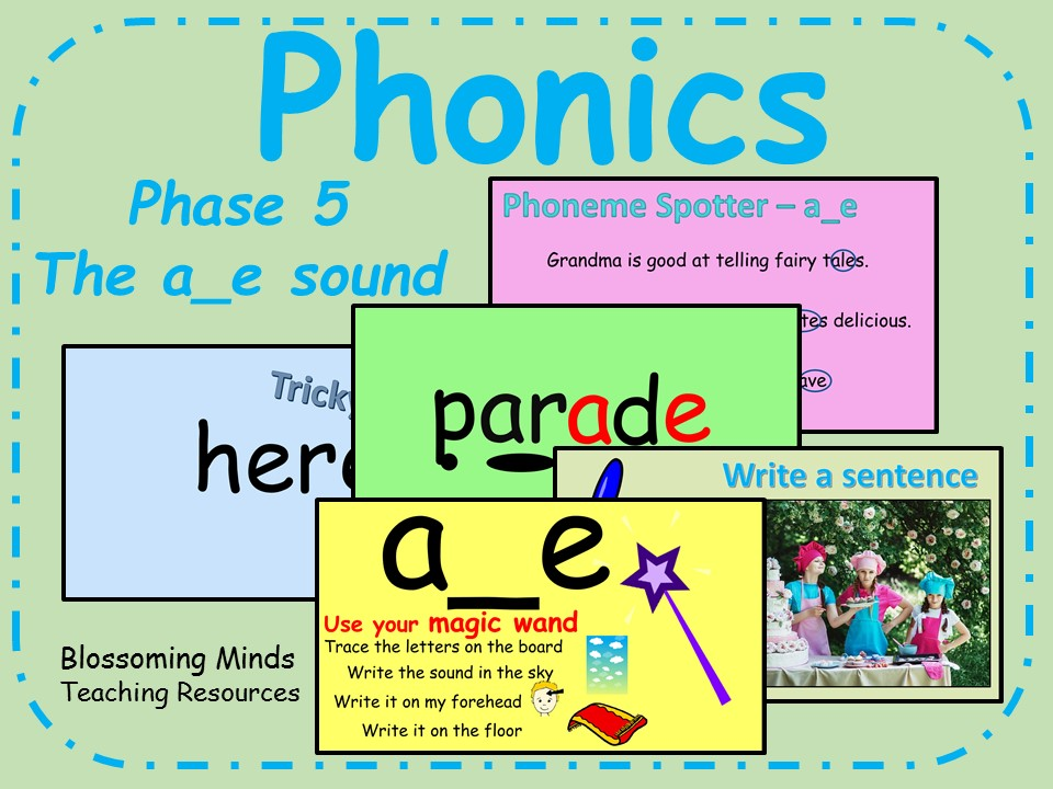 Phonics Phase 5 - Split digraphs - The a_e sound