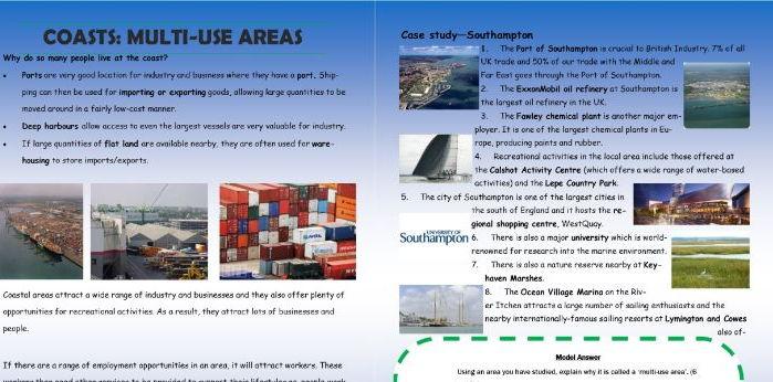 Revision Guide - The Coastal Environment AQA
