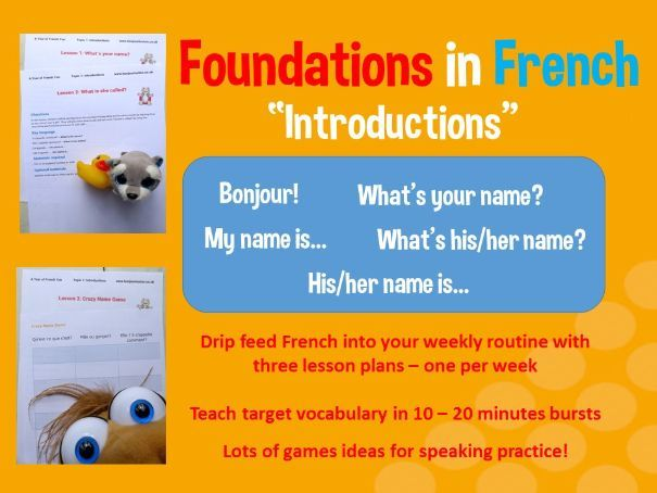 Basic French introductions - 3 lesson plan bundle