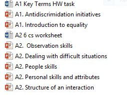BTEC Level 3 Health and Social Care Unit 5 A1 and A2 People Skills, communication, observation