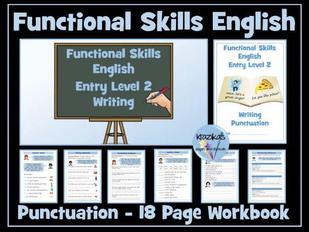 Functional Skills English - Entry Level 2 - Writing - Punctuation