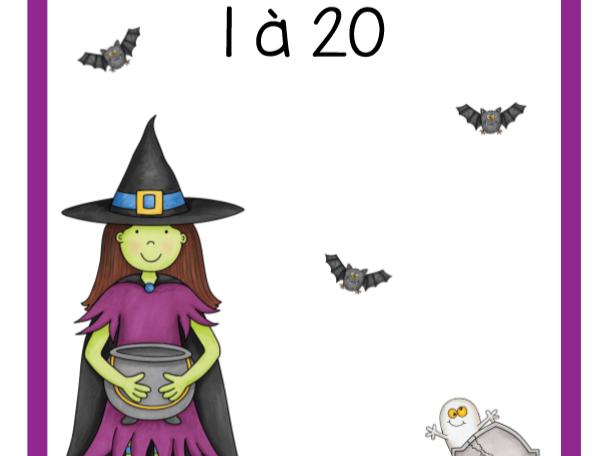 Dénombrement 1 à 20 (Halloween)