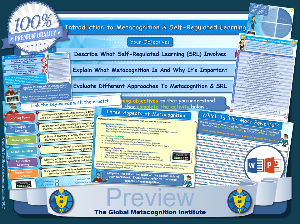 Metacognition & Self-Regulated Learning (Lesson / Introduction)