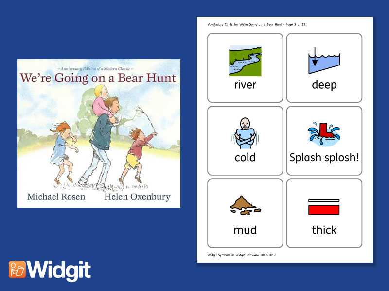 We're Going on a Bear Hunt - Big Book Flashcards with Widgit Symbols