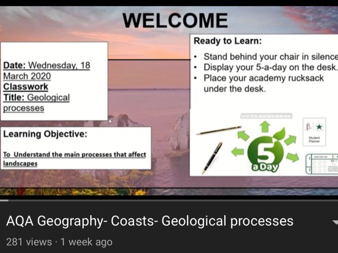 AQA Geography - Coasts and Landscapes
