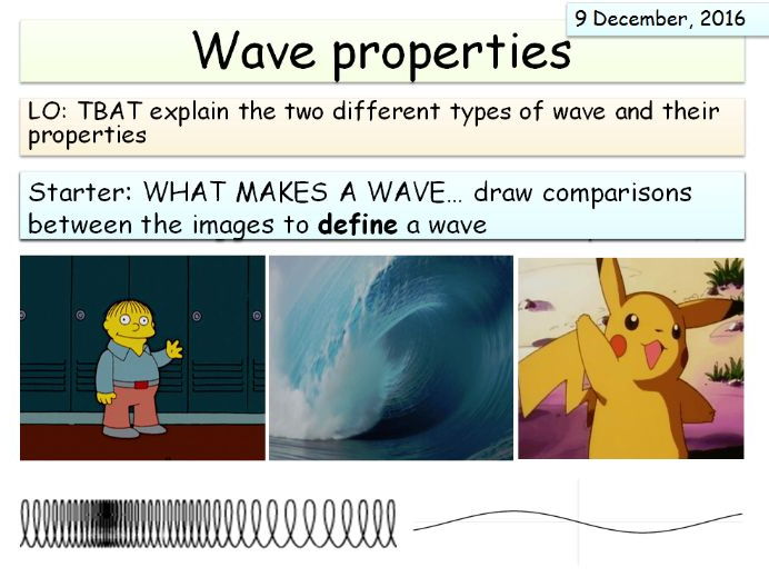 New AQA Physics (Waves unit) - Waves and wave properties