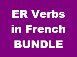 ER Verbs in French Bundle